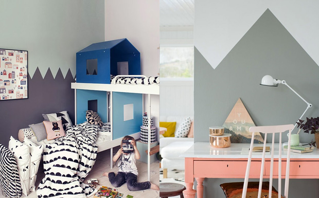 des murs zig zag pour les enfants shake my blog. Black Bedroom Furniture Sets. Home Design Ideas