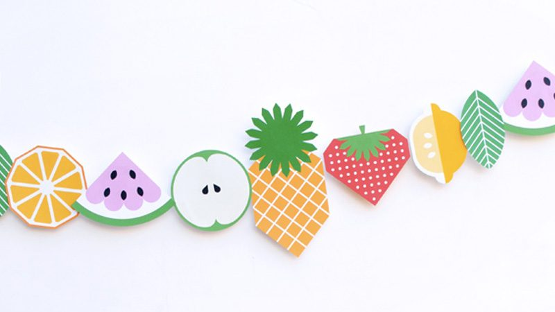 guirlande fruit enfant diy