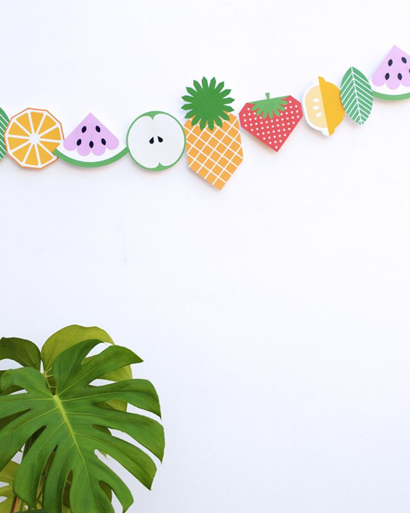 guirlande fruit enfant diy