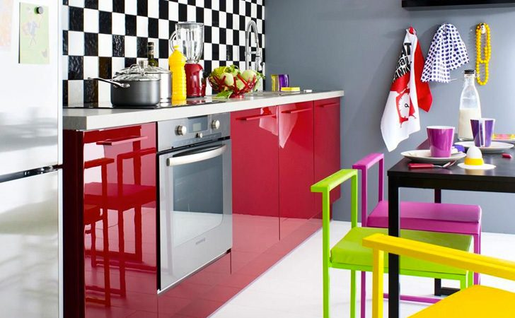 une cuisine color e avec fly shake my blog. Black Bedroom Furniture Sets. Home Design Ideas