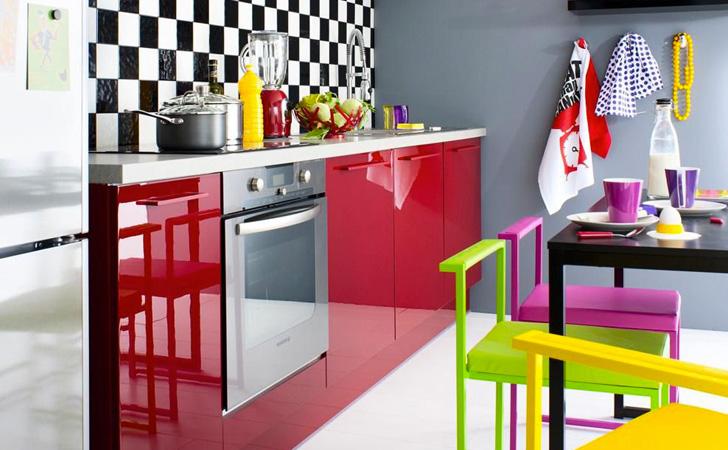 Une cuisine colorée avec Fly | Shake My Blog