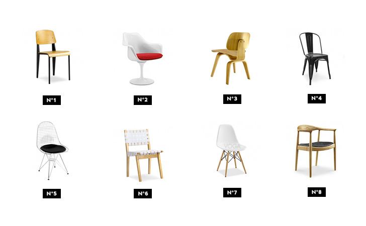 s lection de chaises design chez voga shake my blog. Black Bedroom Furniture Sets. Home Design Ideas