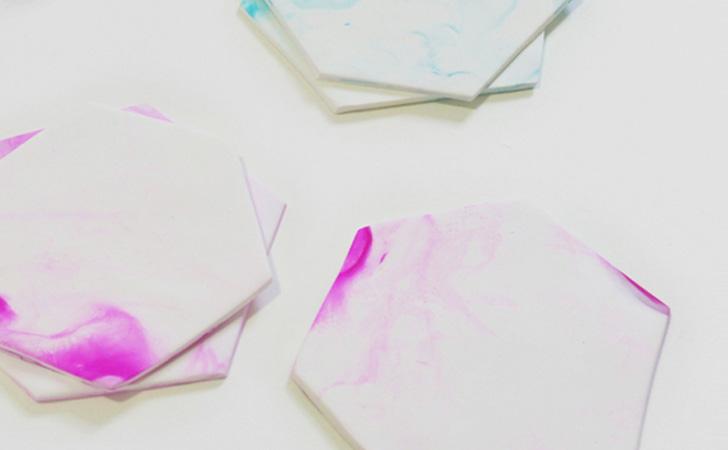sous verre watercolor diy