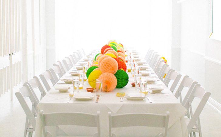 Un chemin de table diy avec des pompons shake my blog - Un chemin de table ...