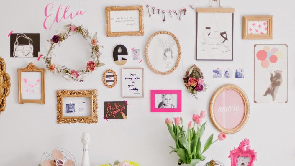 Une déco de chambre en rose et or | Shake My Blog