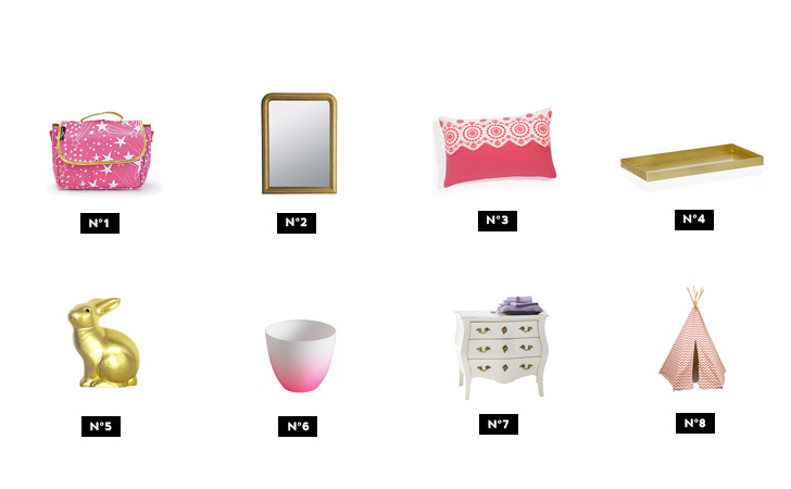 une d co de chambre en rose et or shake my blog. Black Bedroom Furniture Sets. Home Design Ideas
