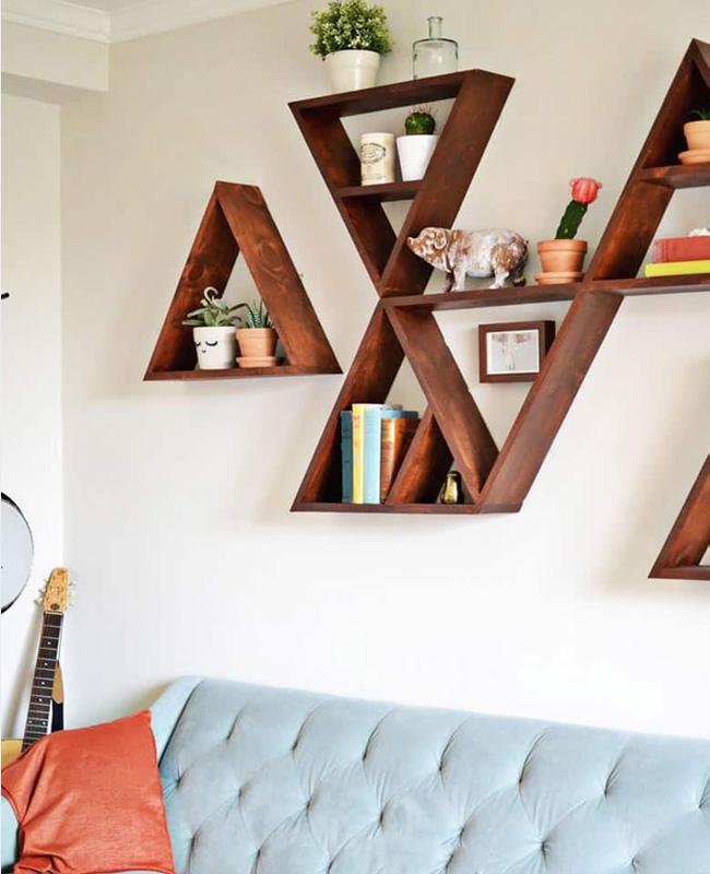 étagère murale triangle diy