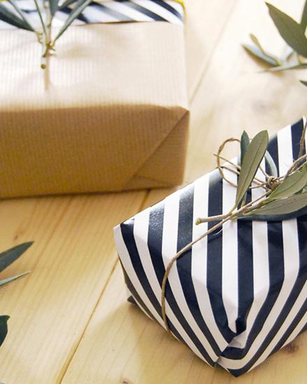 paquet cadeau vegetal diy