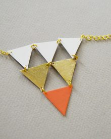 collier geometrique diy