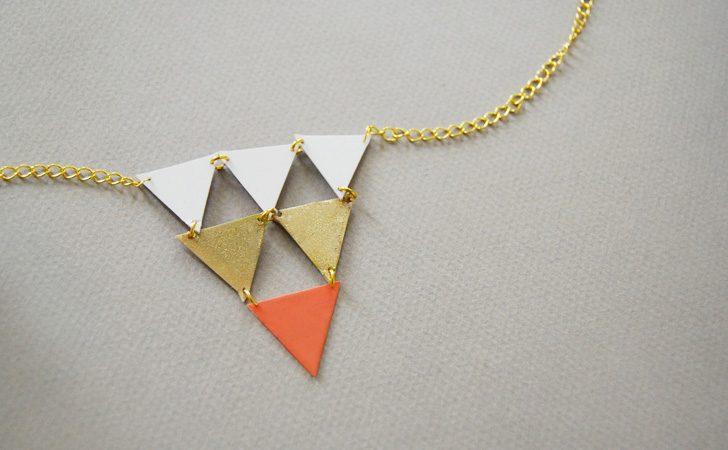 collier geometrique diy