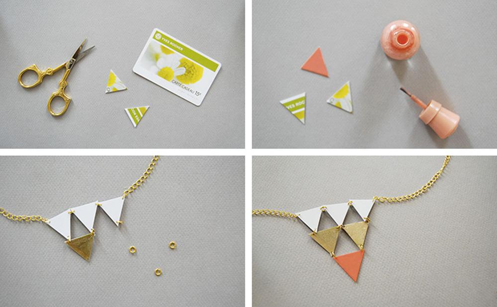 collier géométrique diy
