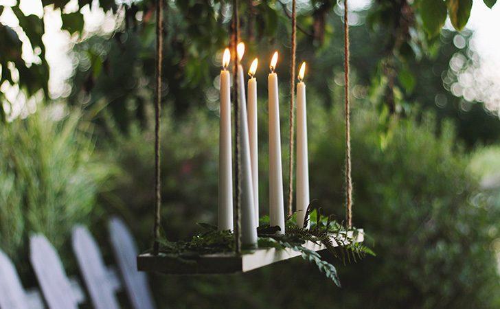 chandelier suspendu diy