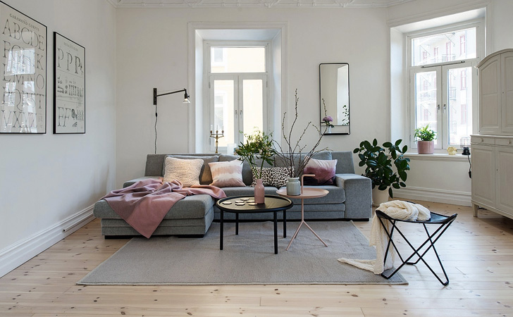Salon Gris Et Rose - Maison Design - Apsip.com