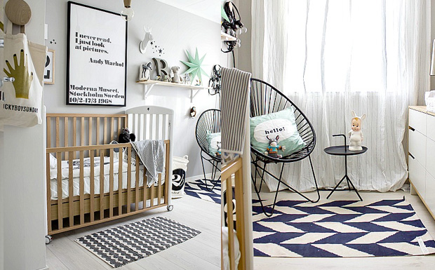 une chambre d 39 enfant scandinave et moderne shake my blog. Black Bedroom Furniture Sets. Home Design Ideas