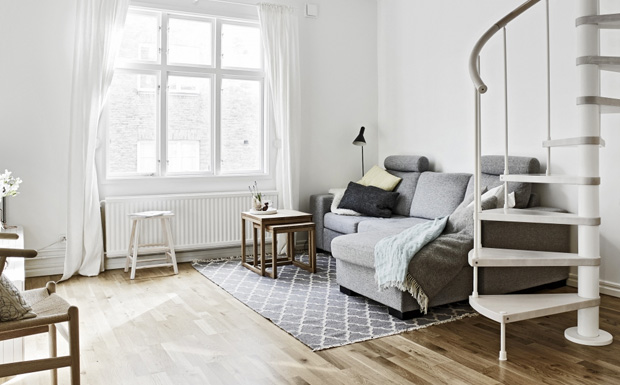Une d co scandinave en gris et blanc shake my blog for Deco appartement gris