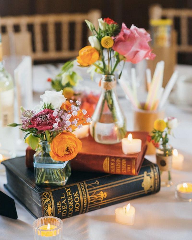 centre table mariage diy livre