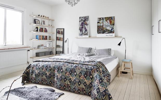 Une d co moderne et naturelle shake my blog for Meuble au dessus du lit