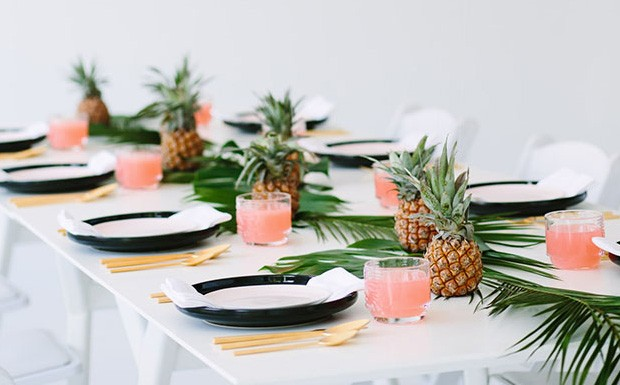 deco table tropicale