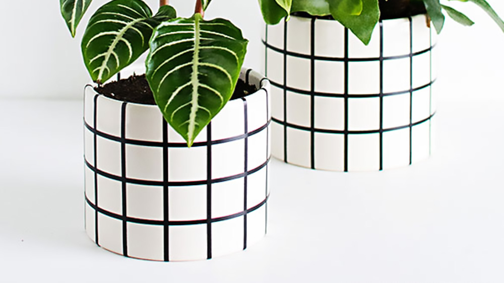 pot plante diy masking tape