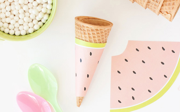 cone pasteque diy