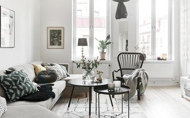 Une d co en noir blanc et bois shake my blog - Deco salon bois et blanc ...