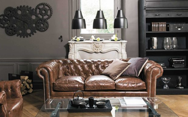 deco canape chesterfield