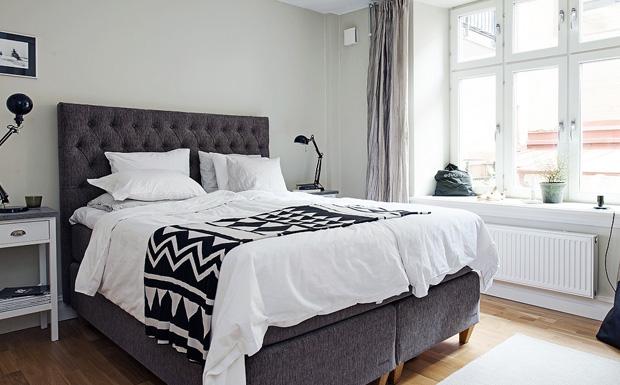 Contemporain noire et blanche chambre coucher design7 for Decoration chambre a coucher contemporain