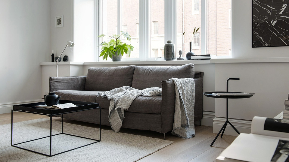 Une d co scandinave contemporaine en noir et blanc shake my blog - Deco industrielle scandinave ...