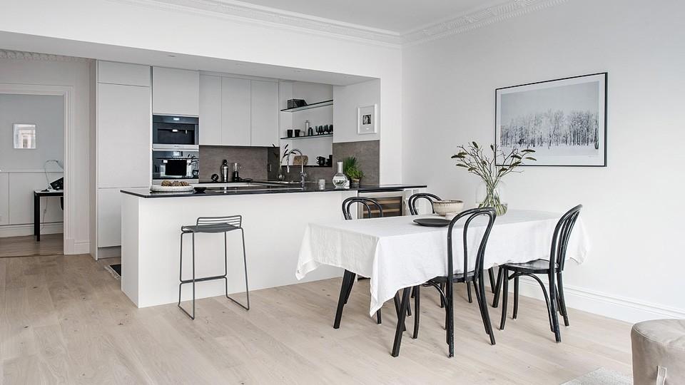 une d co scandinave contemporaine en noir et blanc shake. Black Bedroom Furniture Sets. Home Design Ideas