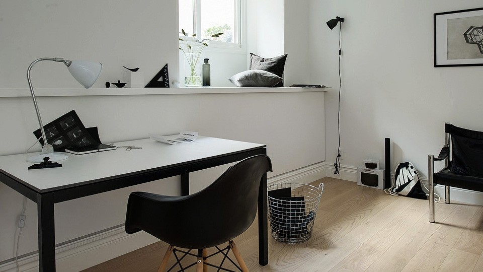 une d co scandinave contemporaine en noir et blanc shake my blog. Black Bedroom Furniture Sets. Home Design Ideas