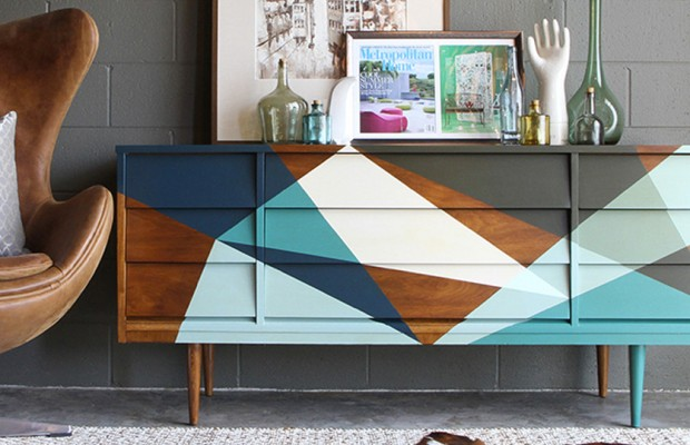buffet scandinave peint diy