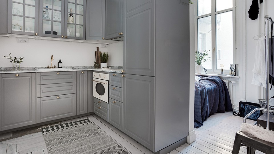 deco contemporaine gris blanc