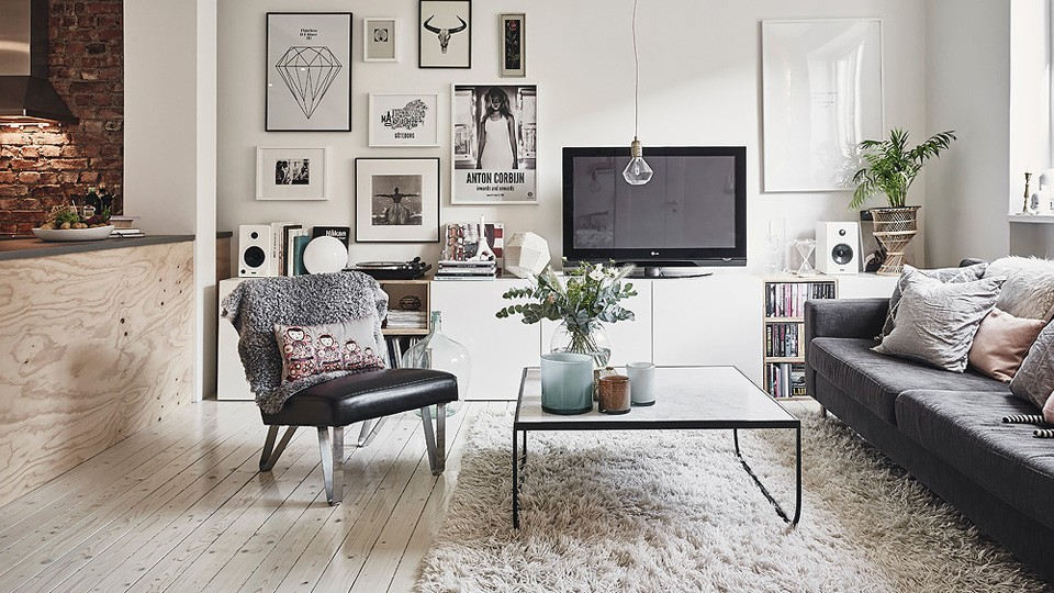 D co scandinave et briques rouges shake my blog for Laminas salon decoracion