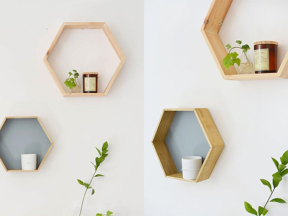 Une étagère géométrique DIY | Shake My Blog