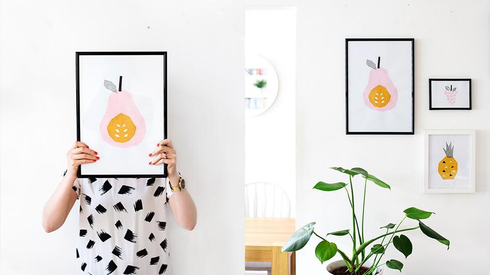Des Affiches Colorées Diy | Shake My Blog