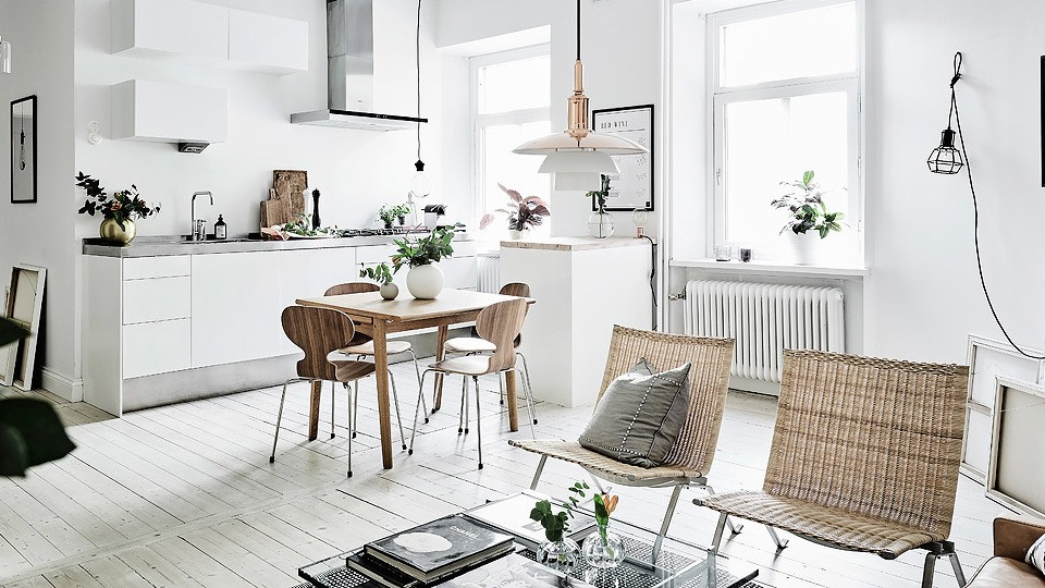 Une d co cuivr e contemporaine shake my blog - Deco woonkamer met trap ...