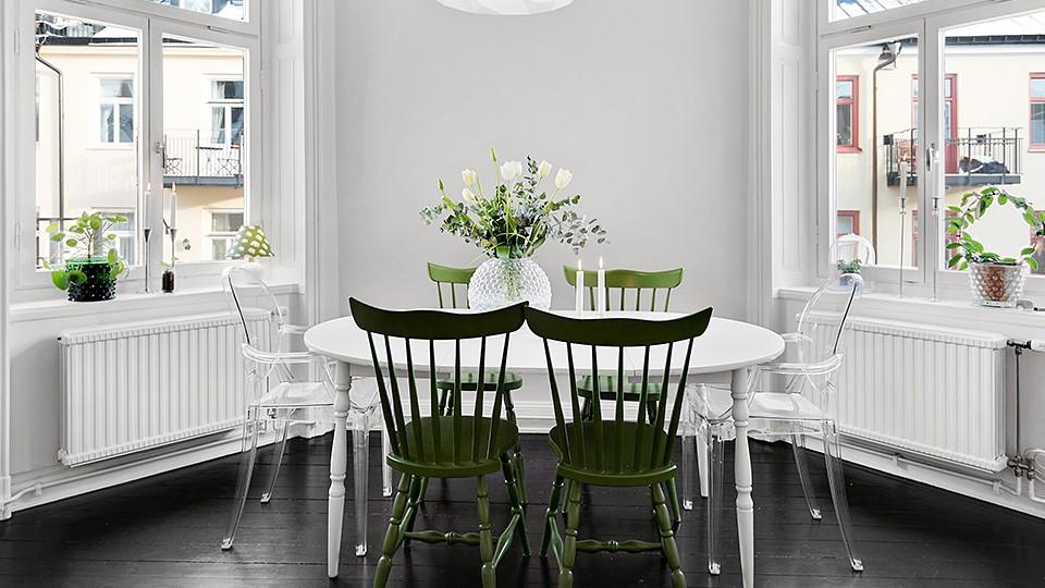 deco contemporaine noir blanc vert