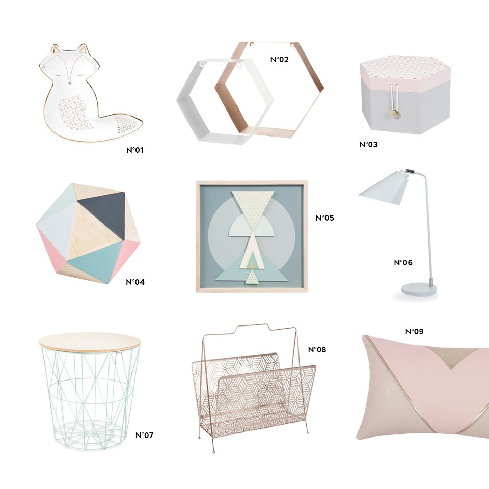 une d co graphique et pastel avec maisons du monde shake. Black Bedroom Furniture Sets. Home Design Ideas