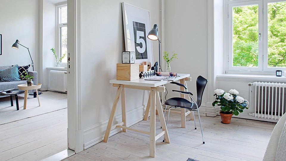 5 bureaux l 39 ambiance scandinave shake my blog. Black Bedroom Furniture Sets. Home Design Ideas