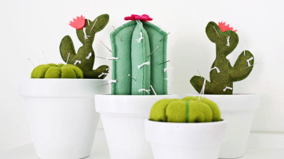 diy cactus feutrine
