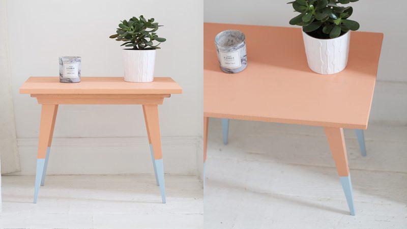 Une table basse vintage color e diy shake my blog - Table basse coloree ...