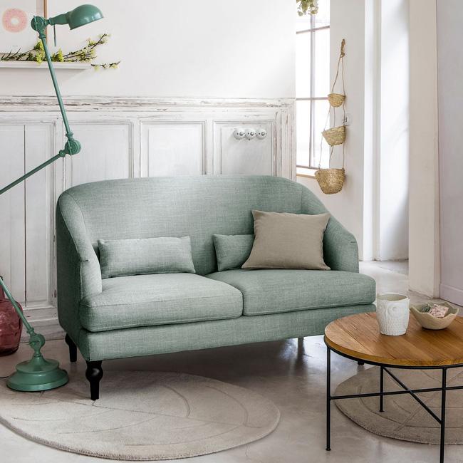canapé pastel vert