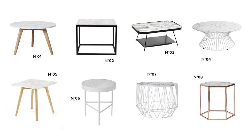 8 tables basses en marbre shake my blog. Black Bedroom Furniture Sets. Home Design Ideas