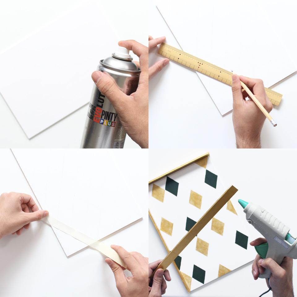 plateau geometrique diy