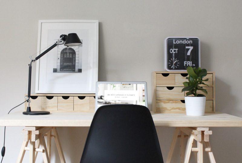Bureau igloo maison du monde pliante design cuisine lot blanche