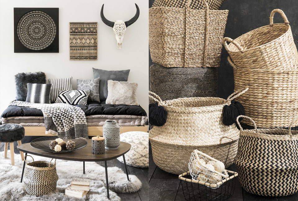 la tendance graphik tribu chez maisons du monde shake my blog. Black Bedroom Furniture Sets. Home Design Ideas