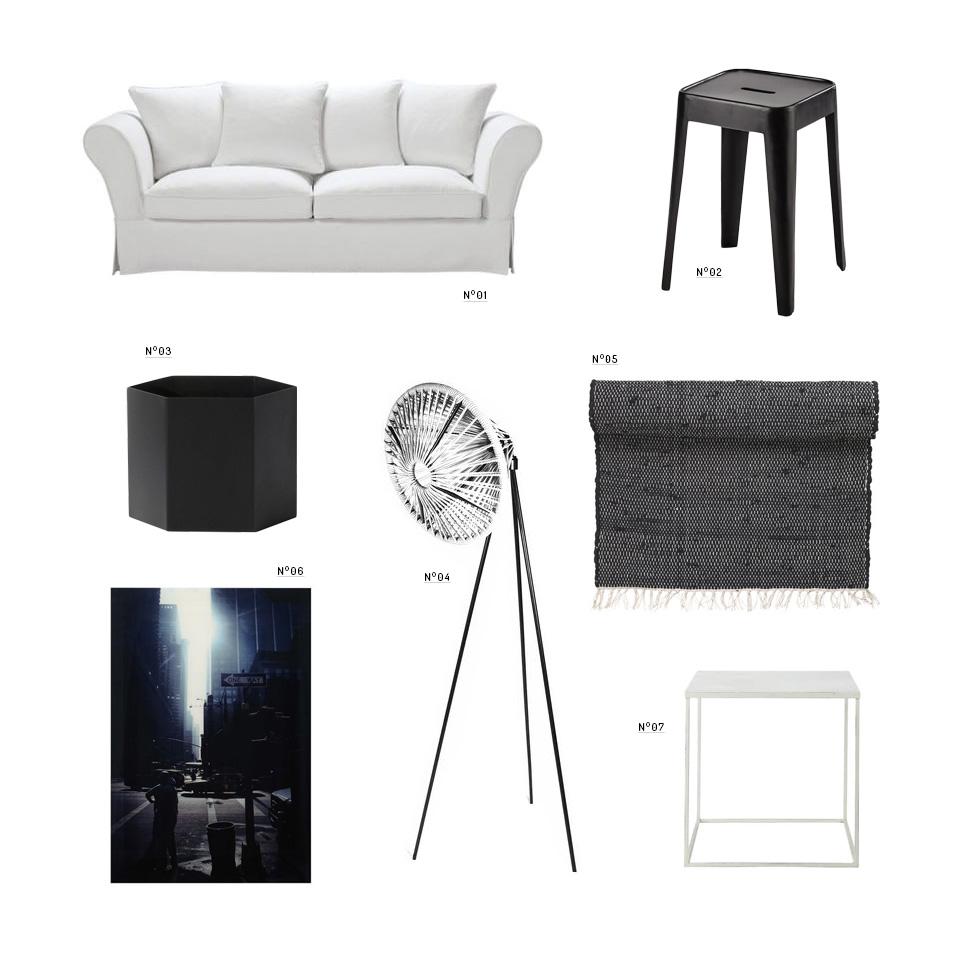 deco studio noir et blanc