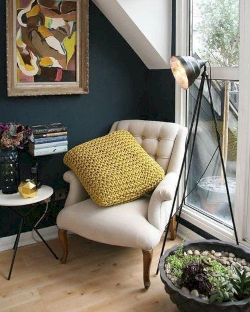 deco bleu canard beige fauteuil crapaud