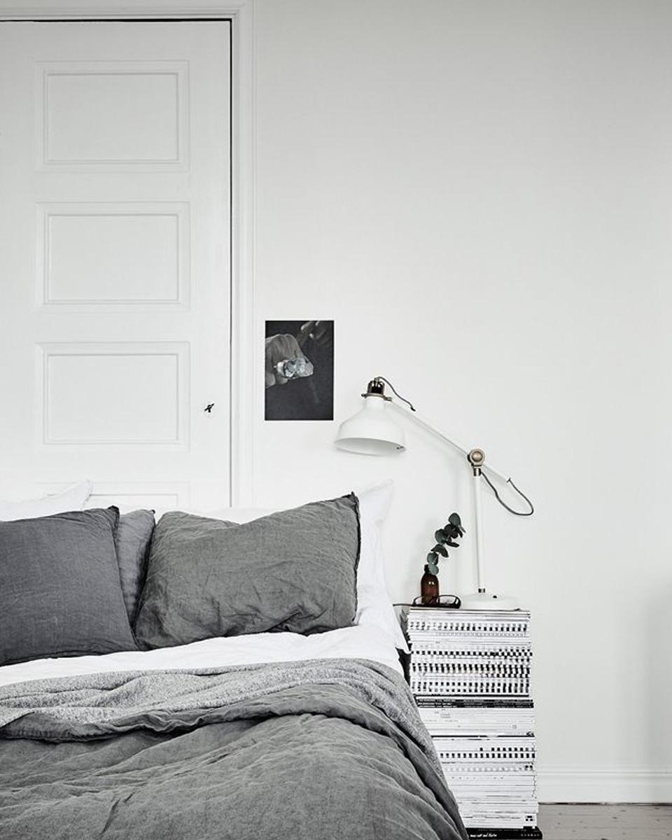 deco studio noir blanc chambre