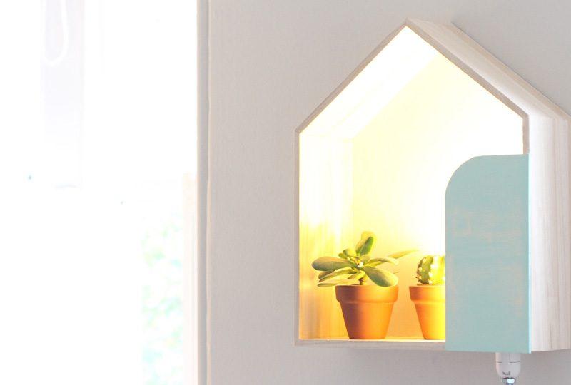 diy lampe maison murale